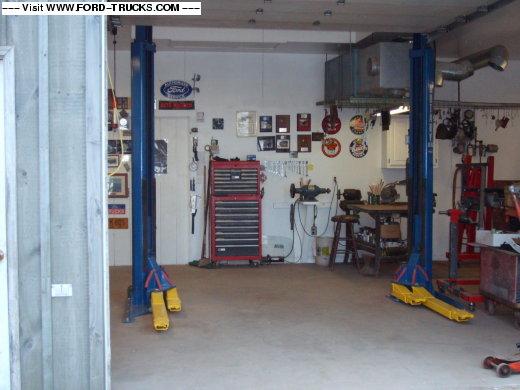 Shop 2 post lift installation